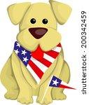 Cartoon Usa Dog