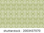 oriental vector damask pattern. ...   Shutterstock .eps vector #2003437070