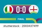 italy vs england match vector...   Shutterstock .eps vector #2003437499
