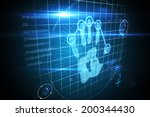 digital security hand print... | Shutterstock . vector #200344430