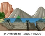Nature Landscape Scene With...