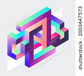 isometric geometric impossible... | Shutterstock .eps vector #2003447573