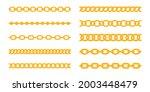 golden chain vector. luxury...   Shutterstock .eps vector #2003448479