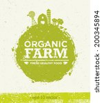 organic farm fresh healthy food ... | Shutterstock .eps vector #200345894