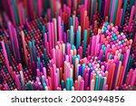 abstract colorful cubic  3d...