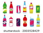 soda drink. fizzy water with...   Shutterstock .eps vector #2003528429