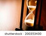 Hourglass With The Sand Runnin...