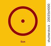 sun. planet symbol. vector... | Shutterstock .eps vector #2003564000
