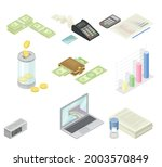 financial accounting with...   Shutterstock .eps vector #2003570849