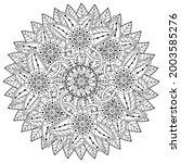 mehndi flower decorative... | Shutterstock .eps vector #2003585276