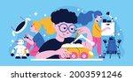 robotics for children colored... | Shutterstock .eps vector #2003591246
