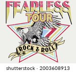 fearless rock and roll tour t...   Shutterstock .eps vector #2003608913