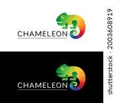 logo multicolored chameleon.... | Shutterstock .eps vector #2003608919