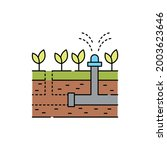 installation of an irrigation...