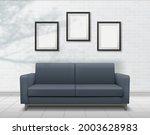 realistic interior sofa on... | Shutterstock .eps vector #2003628983
