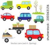 vector clip art  set cars.part...   Shutterstock .eps vector #200363156