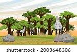 a flock of secretary birds... | Shutterstock .eps vector #2003648306