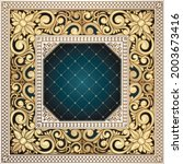 golden ornate floral decorative ... | Shutterstock .eps vector #2003673416