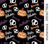 vector halloween seamless...   Shutterstock .eps vector #2003677826