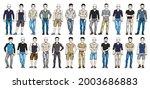 handsome men in casual wear...   Shutterstock .eps vector #2003686883