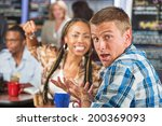 angry young woman threatening... | Shutterstock . vector #200369093