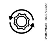 reload settings button icon.... | Shutterstock .eps vector #2003737820