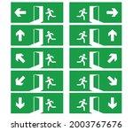 emergency exit signs set.man...   Shutterstock .eps vector #2003767676