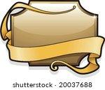 ornamental border  signboard... | Shutterstock .eps vector #20037688