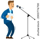man suffers from fear of public ... | Shutterstock .eps vector #2003776700