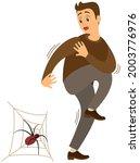 man suffering from fear of... | Shutterstock .eps vector #2003776976