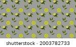 seamless citrus vector pattern... | Shutterstock .eps vector #2003782733