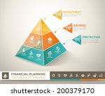 financial planning pyramid... | Shutterstock .eps vector #200379170
