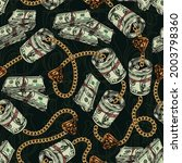 Money Colorful Seamless Pattern ...