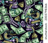 money colorful seamless pattern ... | Shutterstock .eps vector #2003798366