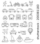vector set of hand drawn... | Shutterstock .eps vector #200381183