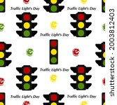 seamless pattern with traffic... | Shutterstock .eps vector #2003812403
