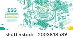 esg concept of environmental ...   Shutterstock .eps vector #2003818589
