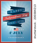 4th of july independence day... | Shutterstock .eps vector #200384213