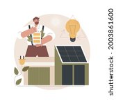 energy plus house abstract...   Shutterstock .eps vector #2003861600