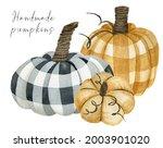 Fall Checkered Handmade Pumpkin ...