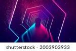 room with neon lights.... | Shutterstock . vector #2003903933