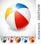 vector illustration   beach... | Shutterstock .eps vector #200391038