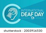 world deaf day is observed... | Shutterstock .eps vector #2003916530