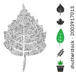 linear collage birch leaf icon...   Shutterstock .eps vector #2003917013