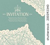 vintage invitation card with... | Shutterstock .eps vector #200392340