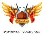 game victory ui design element  ...