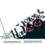 happy halloween message....   Shutterstock .eps vector #2003959529