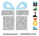 hatch mosaic present icon... | Shutterstock .eps vector #2003961143