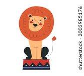beautiful lion is working in...   Shutterstock .eps vector #2003985176
