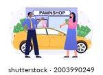 female character selling her... | Shutterstock .eps vector #2003990249